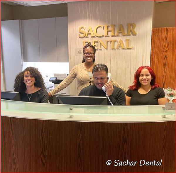 Dentist NYC - Sachar Dental NYC front desk team